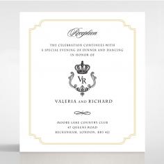 Black Victorian Gates reception enclosure invite card