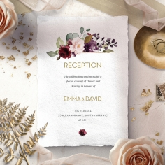 Contemporary Love reception wedding invite card