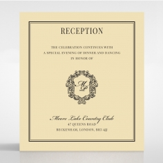 Damask Love reception enclosure card