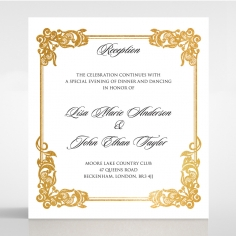 Divine Damask with Foil reception enclosure card