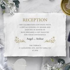 Enchanted Wreath wedding stationery reception card design