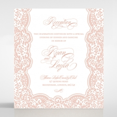 Floral Lace with Foil reception wedding invite card design