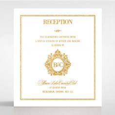 Gold Foil Baroque Gates reception stationery card