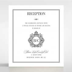 Golden Baroque Gates reception stationery card