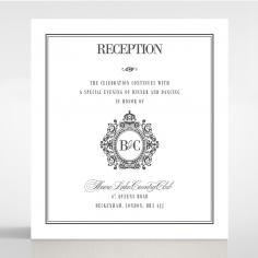 Golden Baroque Gates reception stationery card