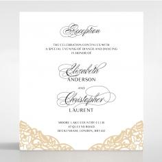 Golden Floral Lux reception invite