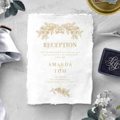 Heritage of Love wedding stationery reception enclosure card