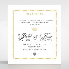 Ivory Doily Elegance reception stationery invite