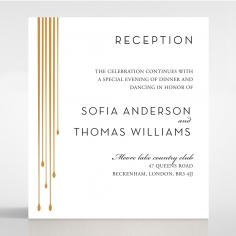 Luxe Intrigue reception invitation