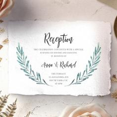 Modern Garland reception wedding card design