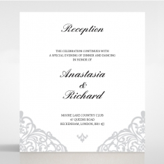 Modern Vintage wedding stationery reception invitation