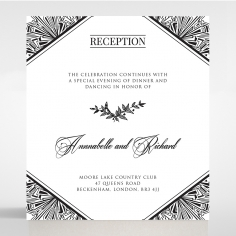 Paper Ace of Spades wedding reception invitation