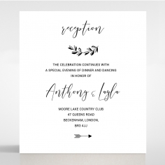 Paper Chic Rustic reception stationery card