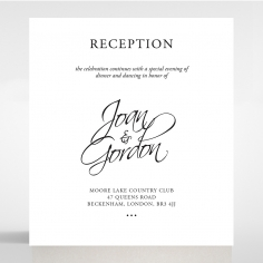 Paper Diamond Drapery wedding reception card