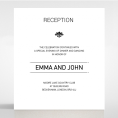Paper Gilded Decadence reception enclosure stationery invite card