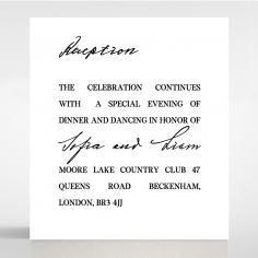 Paper Modern Romance reception enclosure invite card design
