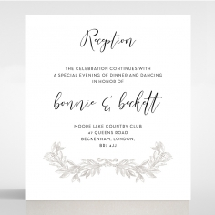 Paper Timeless Simplicity reception stationery invite