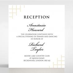 Quilted Letterpress Elegance reception invite