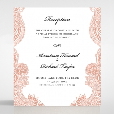 Regal Charm Letterpress reception invite card design