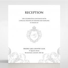 Regally Romantic reception invitation card design