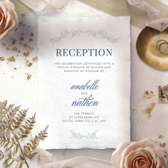 Romantic Soiree reception invite card design