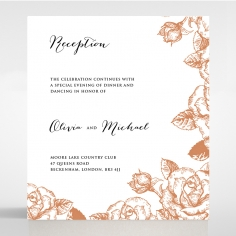 Rose Romance Letterpress reception invite card