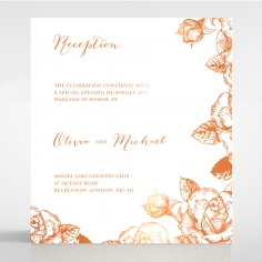 Rose Romance Letterpress with foil reception card design
