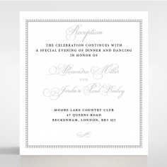 Royal Lace wedding reception card design
