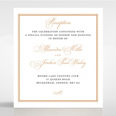 Royal Lace wedding reception invitation
