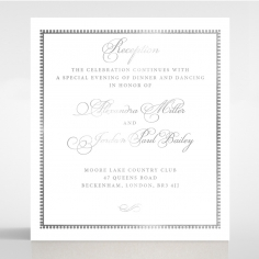 Royal Lace with Foil wedding reception card