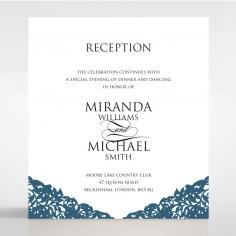 Royal Prestige wedding stationery reception invitation card