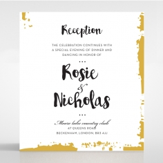 Rusted Charm wedding stationery reception enclosure invite card design