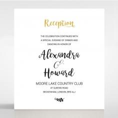 Rustic Lustre wedding reception invite
