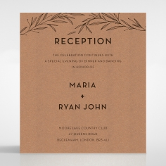 Rustic Oriental reception stationery invite card design