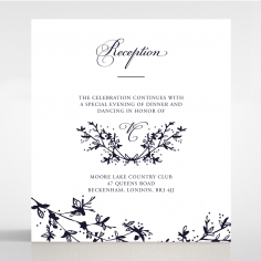 Secret Garden wedding stationery reception invitation