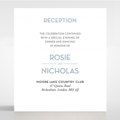 Silver Chic Charm Paper reception enclosure invite card