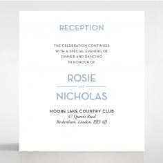 Silver Chic Charm Paper reception enclosure invite card