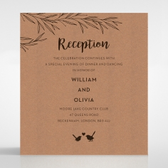 Springtime Love reception enclosure stationery card design