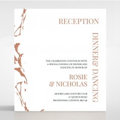 Stonework wedding reception invitation