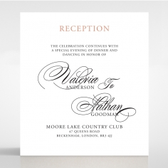 Timeless Romance reception enclosure stationery card