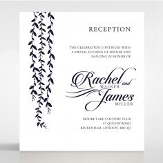Unbroken Romance reception stationery invite card design