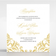 Victorian Extravagance reception enclosure stationery invite card