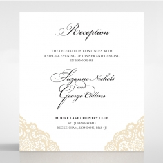 Vintage Prestige reception invite card design
