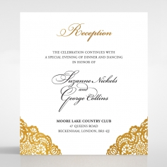 Vintage Prestige with Foil reception wedding card