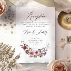 Watercolor Rose Garden reception invitation