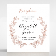 Whimsical Garland reception enclosure card design