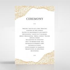 Woven Love Letterpress reception wedding card