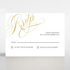 A Polished Affair rsvp wedding card design