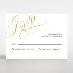 A Polished Affair rsvp wedding card design