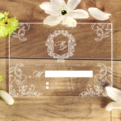 Acrylic Aristocrat rsvp wedding enclosure design